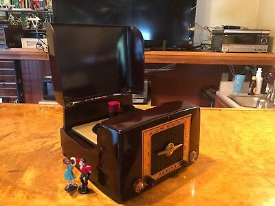 1955 Zenith Model T545 45 Record Player/Radio Totally Restored Watch It PLAY