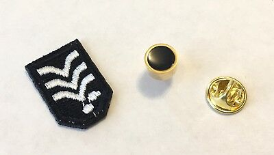 Star Trek Miles O'Brien Chief Rank Patch & Rank Pip (Set of Both)