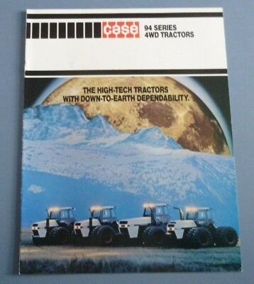 Vintage Case Brochure Of The 94 Series  4Wd Tractors 1984 Nearly Mint