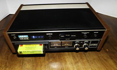 Akai CR-81D 8 Track Stereo Player Recorder Vintage 8 Track Works Very Well