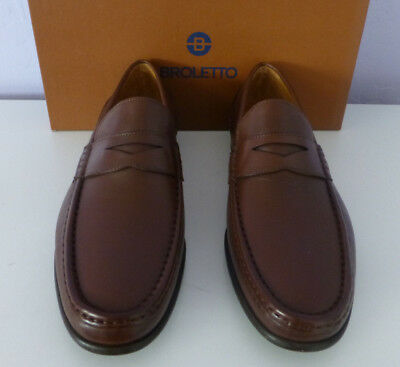 14b272b3498 BROLETTO Teramo Mens Brown Leather Loafers Slip On Shoe Size 11 New In Box