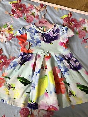 Ted Baker Baby Girls Dress. Age 6-9 Months. Floral 💕🌸