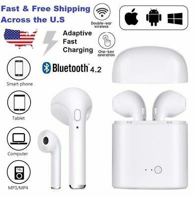 Bluetooth Earbud Headset Wireless Earphone Headphone for Samsung S8 iPhone X 8 7