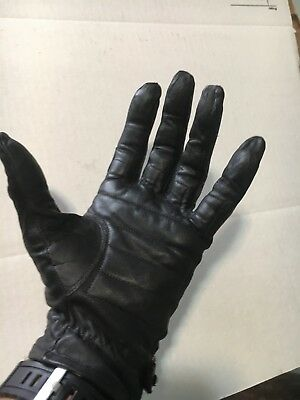 Genuine Leather Harley-Davidson Riding Gloves With Loop Clasp