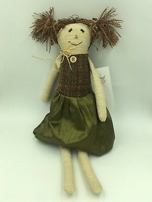 Woof and Poof: Sm Scarecrow Girl Bean Bag: No Button- NWT