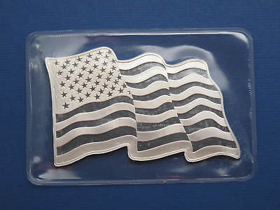 Sunshine Minting American Flag Waving 1oz .999 Pure Silver Bar Factory Sealed