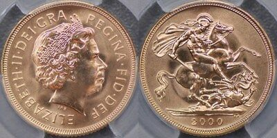 Great Britain, 2000 Sovereign - PCGS MS65