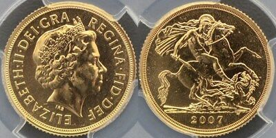 Great Britain, 2007 Sovereign - PCGS MS64