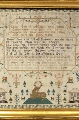 "CLASSIC Georgian SAMPLER, ""Mary Greenfield finished this Sample May 2 1803"""