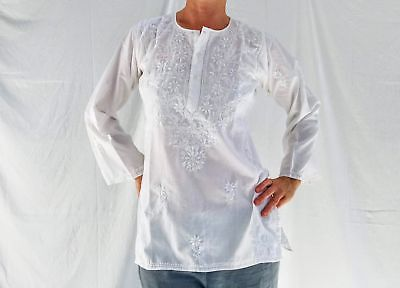 White Embroidered Indian Blouse