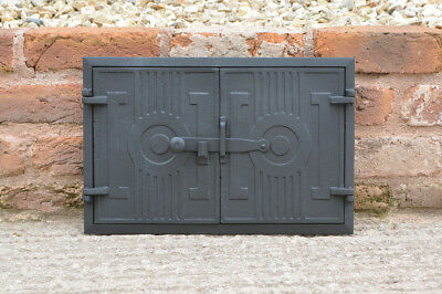 42 x 27 cm cast iron fire door clay / bread oven doors pizza stove fireplace
