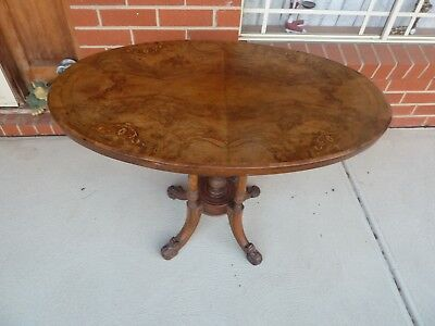 c1800s Inlaid Table complete but needs some minor restoration.