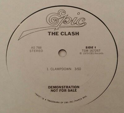 """The Clash - Clampdown - Rock - Rare Promo Only 10"""" - Epic"""
