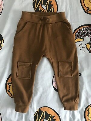 Rock Your Baby / Kid 'Nirvana' Track Pants Brown Size 4 VGUC