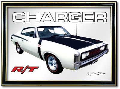 Bar Mirror Valiant Rt Charger Barware Auto Collectable Sign Art Metal Mancave