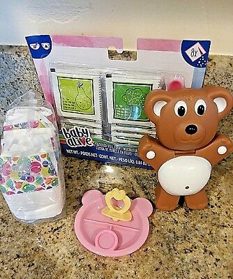 Baby Alive Food , Diapers, Paci, & Snack Holder For Sweet Spoonfuls Dolls
