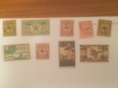 New Caledonia -  France colonial mint+used stamps auglot6