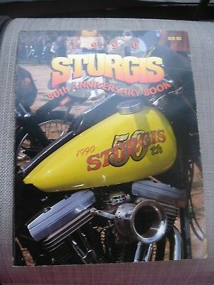 1990  Sturgis  50Th Anniversary Book  Motorcycle Rally Free Ship