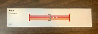 NIB Apple Watch 42mm Red Stripe Woven Nylon Band MPW72AM/A LIMITED SOLD OUT