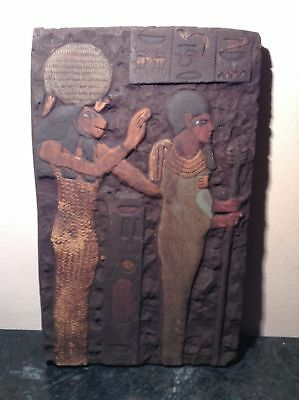 rare ancient Egyptian plaque  Sekhmet 1500-300 BC