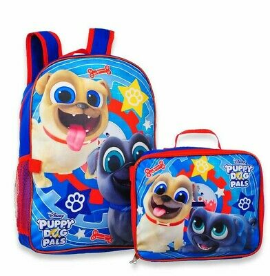 8b08d13393d5 Disney Puppy Dog Pals Boys School Backpack Book Bag Lunch Box SET Kids Toy  Gift