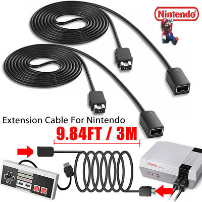 10FT Extension Cable Cord for NINTENDO NES Mini Classic Edition Controller NEW