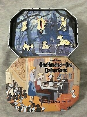 Disney 101 DALMATIANS Set of 6 Commemorative Pins and Collectable TIN