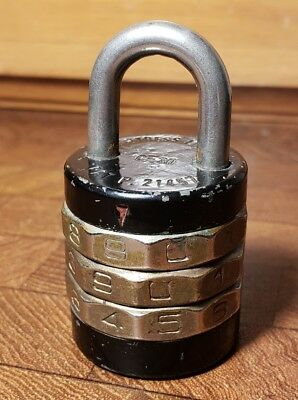 Vintage Barrel Combination Lock, Made by Donner MFG Co -