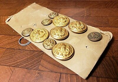 Lot of Misc Vintage US Military Brass Uniform Buttons