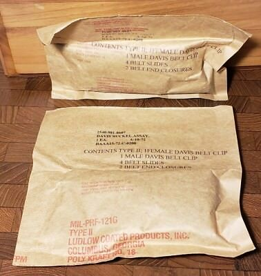 Lot of (2) NOS Unused Military Issued Davis Buckel Assembly 2540-981-8607
