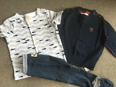 Boys Country Road Pants / T-Shirt And Diesel Jumper – Size 6-12 Mths