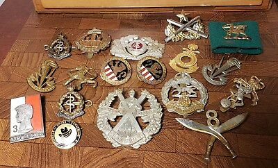 Large lot of Misc Vintage US and Foreign Military Badges & Pins