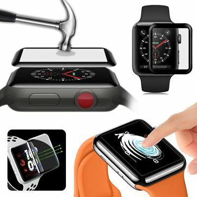 3D Full Cover Tempered Glass Screen Protector for Apple Watch iWatch 38/42mm AU