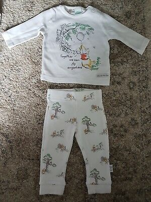 Disney Winnie The Pooh Baby Set 0-3 Months New Without Tags
