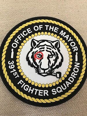 3D OFFICE OF THE MAYOR, MONOCLE TIGER, 3D PVC PATCH, 391st BOLD TIGERS, F-15E