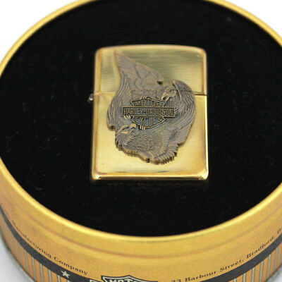 Zippo Lighter Harley Davidson Limited Edition. Fighting Eagles. Brass. Mint Tin!