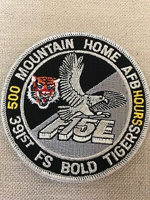 Day/night 500 Hours, 391 Fighter Squadron, Bold Tigers, F-15E, Patch, Usaf