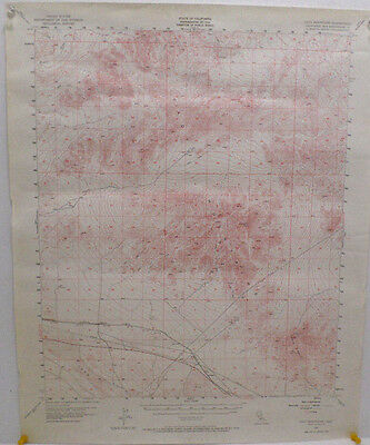 Vintage Topography map of Cady Mountains Quadrangle U.S. Geological Survey 1955