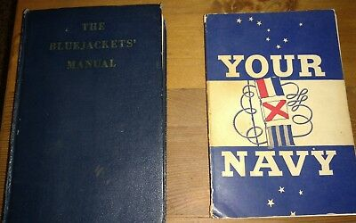 THE BLUEJACKETS MANUAL 1961 17th Edition 2nd Edition  and YOUR NAVY 1946