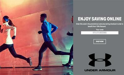 10% OFF Under Armour Promo Coupon Code Exp. 8/30/18 Online Only