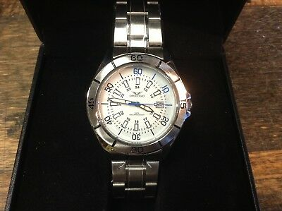 BRT NEW Orologio Mens C.2010 Stainless Watch, 5 ATM Water Resist - High Value!