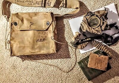 U.S. Gas mask and bag. Came w/Ger cap & belt. Canceled by mistake relisted.