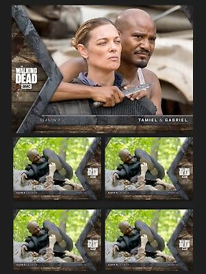 TAMIEL & GABRIEL+4x STOKES-INTO THE HUNT-HUNTER/HUNTED-TOPPS WALKING DEAD TRADER