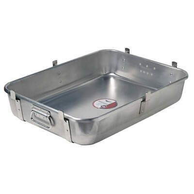 Aluminum with Chrome-Plated Steel Straps Roasting Pan Bottom,with Straps, 68362
