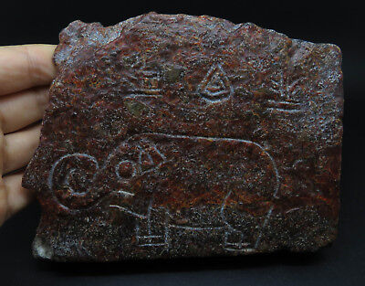 Very Rare Ancient Stone Age Fragment with Designs 625g