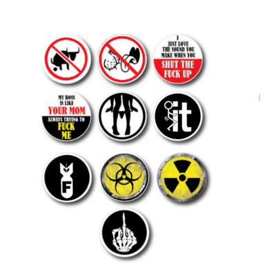 10pk Hard Hat Crude Humor Funny Joke Decal Sticker 3M Toolbox Welder Helmet Tool