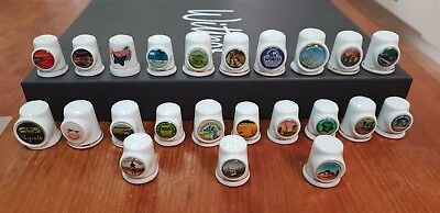 23 x Queensland thimbles collectable