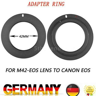 M42-EOS 42mm Screw Mount Lens to Canon EOS Camera Lens Mount Adapter Ring B5B9
