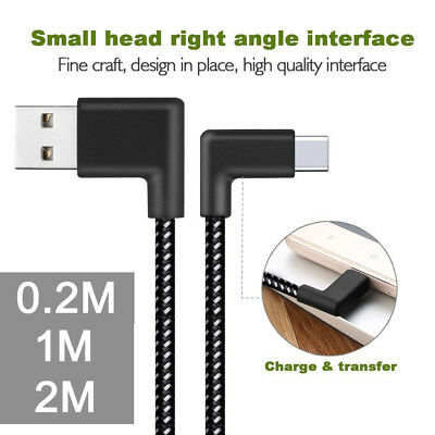 Right Angle USB-C Type C Data&Sync Faster Charger Cable For Samsung Galaxy S8