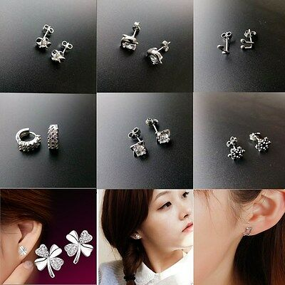 Variety Of Styles Mixed Fashion 925 Sterling Silver Ear Stud Earrings Jewelry